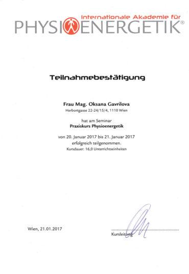 Вена, скэнар терапия, альтернативная медицина, скэнар-терапия, физиоэнергетика, сертификат. Оксана Гаврилова. Wien, Scenar Therapie, Alternativmedizin, Physioenergetik, Praxiskurs 2017, Zertifikat, Mag. Oksana Gavrilova.